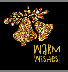 christmas banner warm wishes vector image