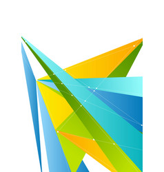 colorful abstract tech polygonal corporate vector image vector image