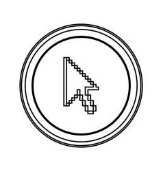 Contour emblem mouse cursor icon vector