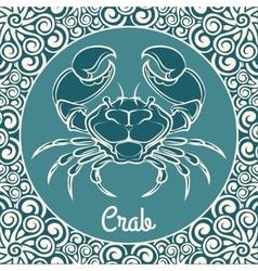Crab logo template vector