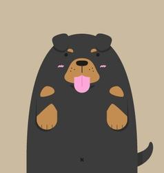 cute big fat Rottweiler dog vector image
