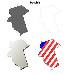 Dauphin map icon set vector