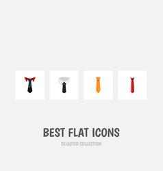 flat icon necktie set of textile clothing style vector image