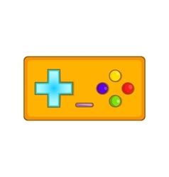 Gamepad icon cartoon style vector