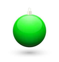 Gradient christmas green ball vector image vector image