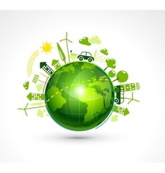 Green Eco Planet vector image