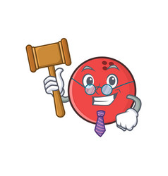 Judge bowling ball character cartoon vector