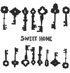 Keys8 vector image