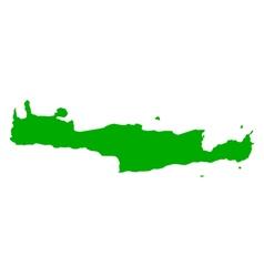Map of crete vector