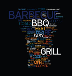 Menu ideas for the barbecue grill text background vector