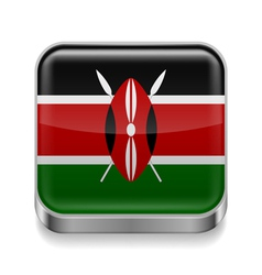 Metal icon of Kenya vector image
