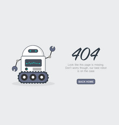 page not found error 404 template vector image vector image