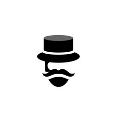 People retro old mustache vintage vector