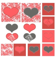 Pink and gray Valentine vector image