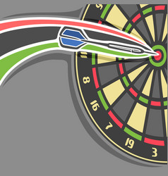 poster for darts game vector image