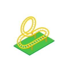 Rollercoaster isometric 3d icon vector