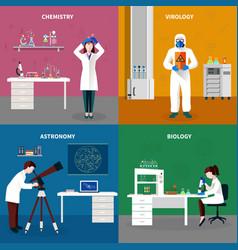 Scientists people concept set vector