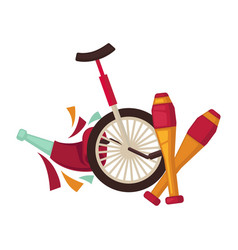 Special equipment for circus performances isolated vector