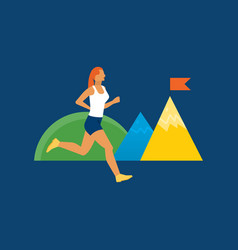Theme of fitness and an active lifestyle vector