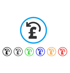 Undo pound payment rounded icon vector