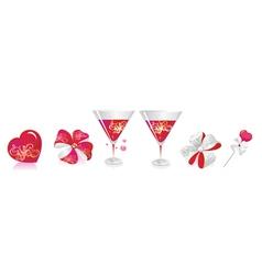 Wedding beverage deco vector image vector image