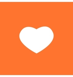White valentines heart on a orange background vector image vector image