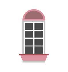 windows house style isolated icon vector image vector image