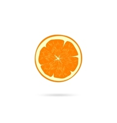 Orange slice icon isolated on white vector