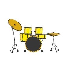 Drum music instrument vector