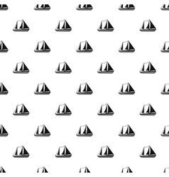 Yacht pattern simple style vector