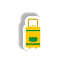 Stylish icon in paper sticker style travel vector