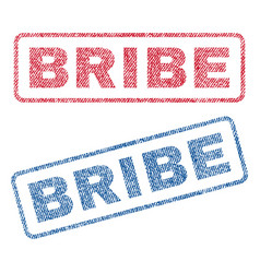 Bribe textile stamps vector
