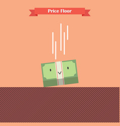 Money bill falling limit by price floor vector