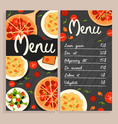 colorful italian restaurant menu template vector image