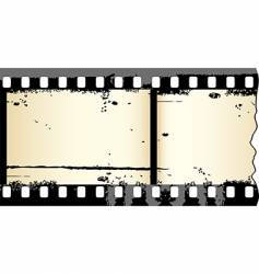 Grunge film strip vector