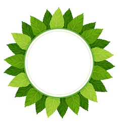An empty round template surrounded with green vector
