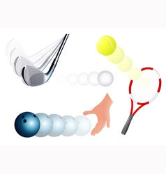 Ball kick set vector