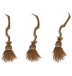 Stylish broom vector