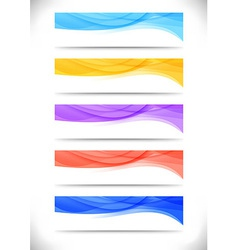 Collection of bright abstract web banners vector