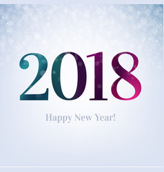 2018 happy new year card vector