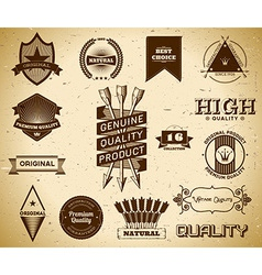 Vintage labels collection 16 vector