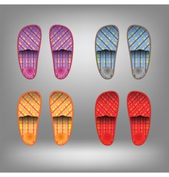 Shoes for home vector