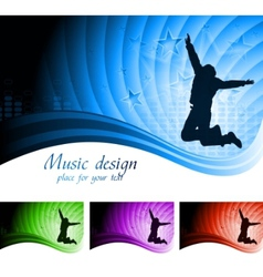 beautiful musical backdrop vector image