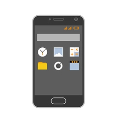 Smartphone with application icons vector image