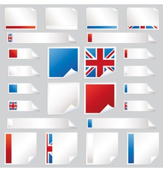 Uk stickers and tabs vector