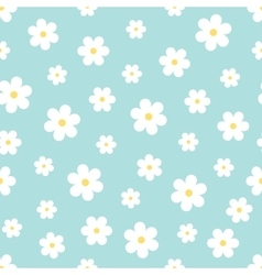 Seamless floral pattern with daisies vector