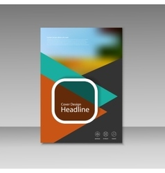 Brochure magazine cover design poster vector