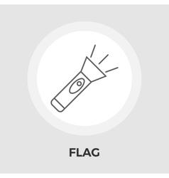 Flashlight flat icon vector