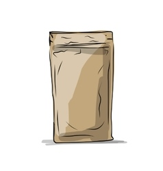 Bag packaging sketch for your design vector