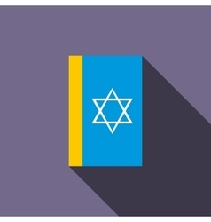 Jewish holy book icon flat style vector
